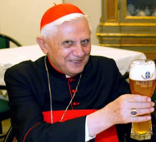 Ratzinger with Beer